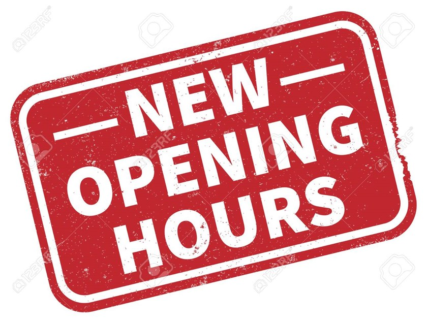New opening times and lots of football to watch